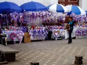 Vendors selling  memorial items