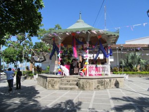 The Main Square decorated for the Day of the Dead
